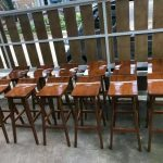 Kursi bar cafe kayu jati minimalis