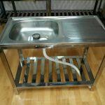 Murah kualitas ok meja cuci piring Aluminium