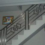 Railing tangga besi stainless model wajik