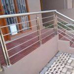 Railing tangga stainless ful desain minimalis dan harga murah betul