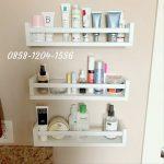 Rak Dinding Kayu Kosmetik