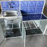 Rak Wastafel tempat cuci piring aluminium keramik