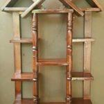 Rak dinding kayu jati belanda model rumah