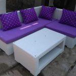 Set Sofa Tamu L 180x150 Cm Rotan Sintetis