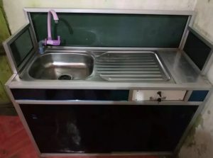 Tempat cuci piring besi