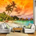 WALLPAPER MURAH JOGJA Pantai 3D Wallpaper Dinding
