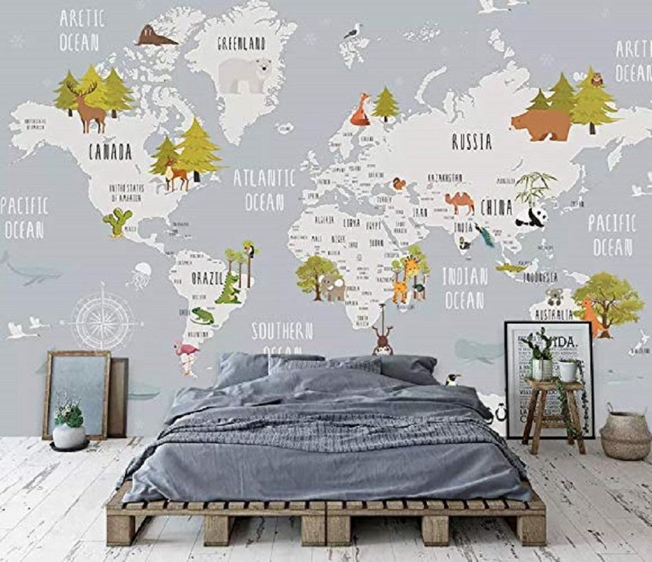 65 Motif Wallpaper Dinding Ruang Tamu Rumah Harga
