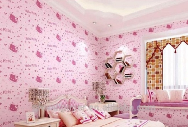 Wallpaper Dinding Pink