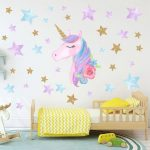 Wallpaper Dinding Unicorn