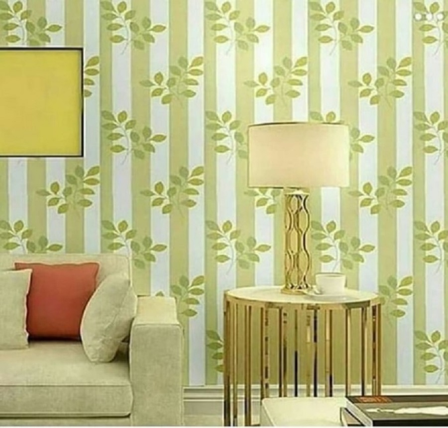 Wallpaper Dinding Warna Hijau