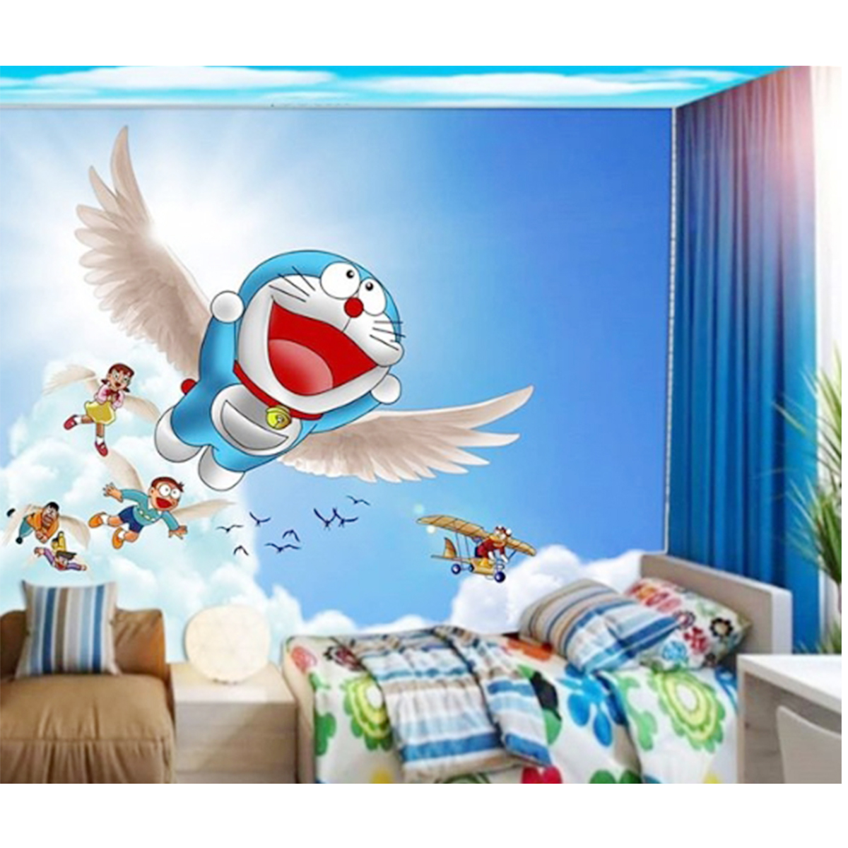 √ 65 Motif Wallpaper Dinding Ruang Tamu Rumah & Harga