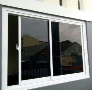 jendela sliding full aluminium & kaca,ukuran 100 X 100