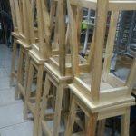 kursi bar stool kayu murah tinggi 75 kursi baso bakso barstool stand