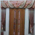 Gorden Pintu Minimalis Kupu Tarung Ukuran 260X250 CM Bahan Blackout
