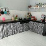 Gorden meja dapur katun panca