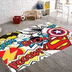 Karpet Permadani Motif Superhero