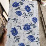 Keramik Dinding Kamar Mandi 25x40 Motif Bunga Davina Blue