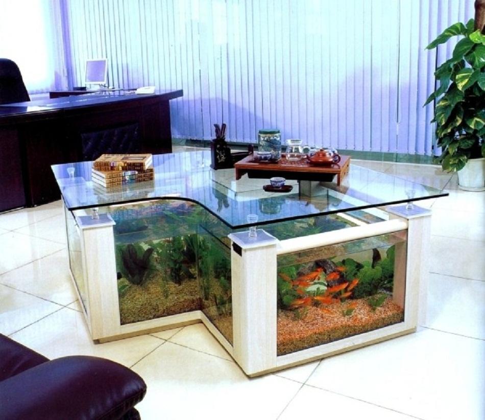 Meja aquarium unik