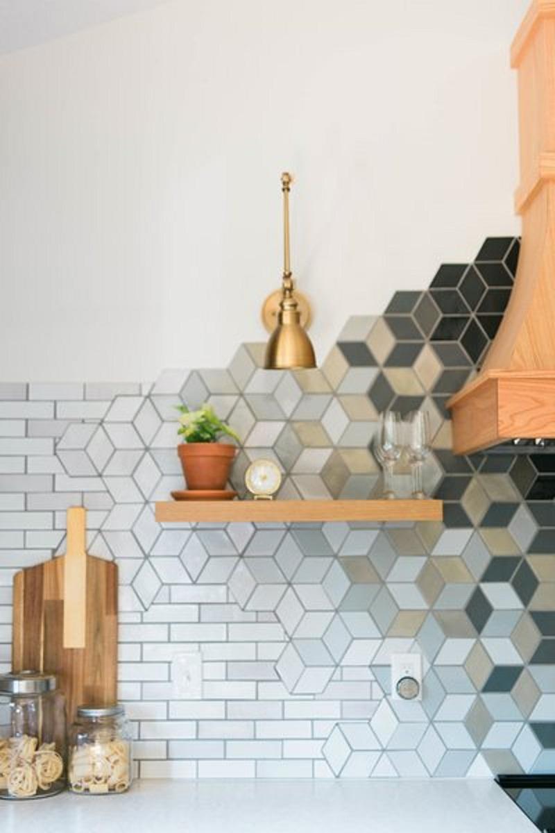 Keramik Dinding Dapur Mozaik