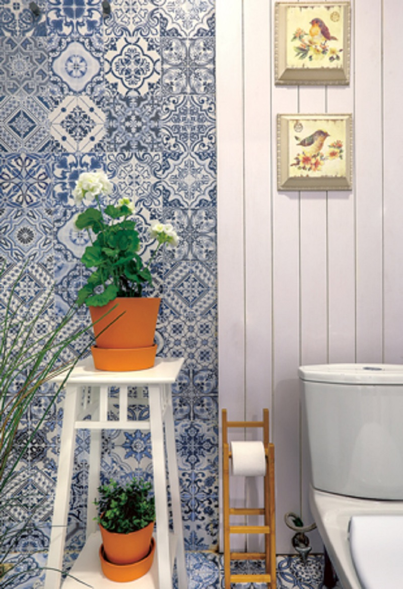 Keramik Dinding Kamar Mandi Motif Bunga