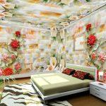 Keramik Dinding Kamar Tidur Motif Bunga