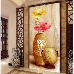 Keramik Dinding Teras Rumah Motif Bunga