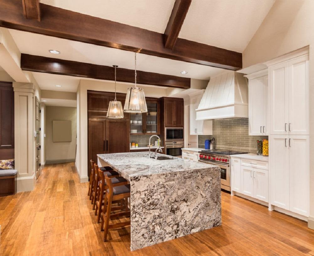 Lantai Granit Dapur Motif Kayu