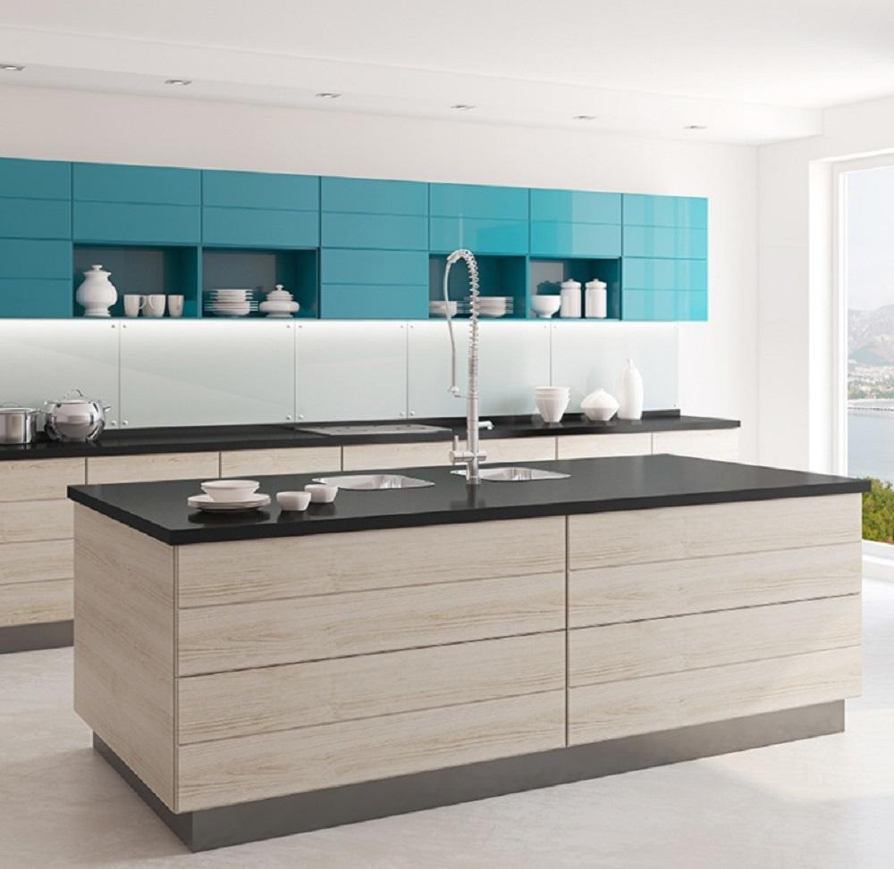 Lantai Granit Dapur Putih Polos