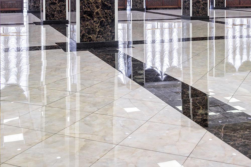 Lantai Granit Hitam Putih