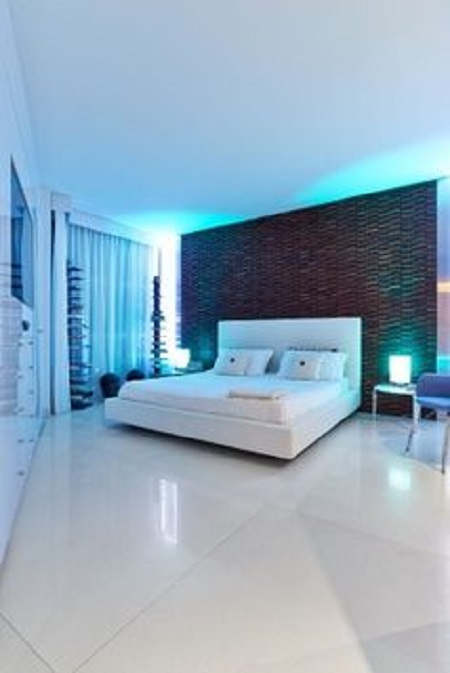 Lantai Granit Kamar Tidur Putih