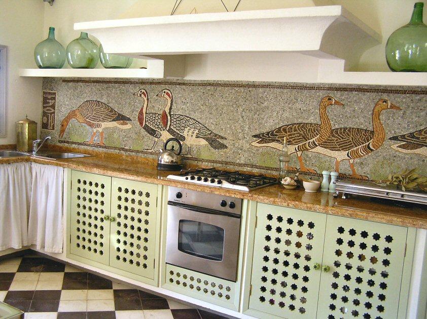 Motif Keramik Dinding Dapur Roman