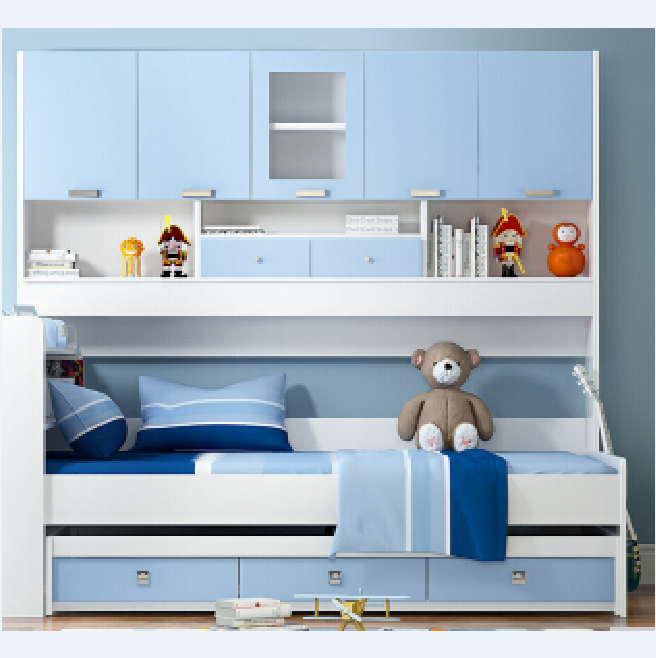 Bed Bertingkat Anak Dengan Rak Kecil