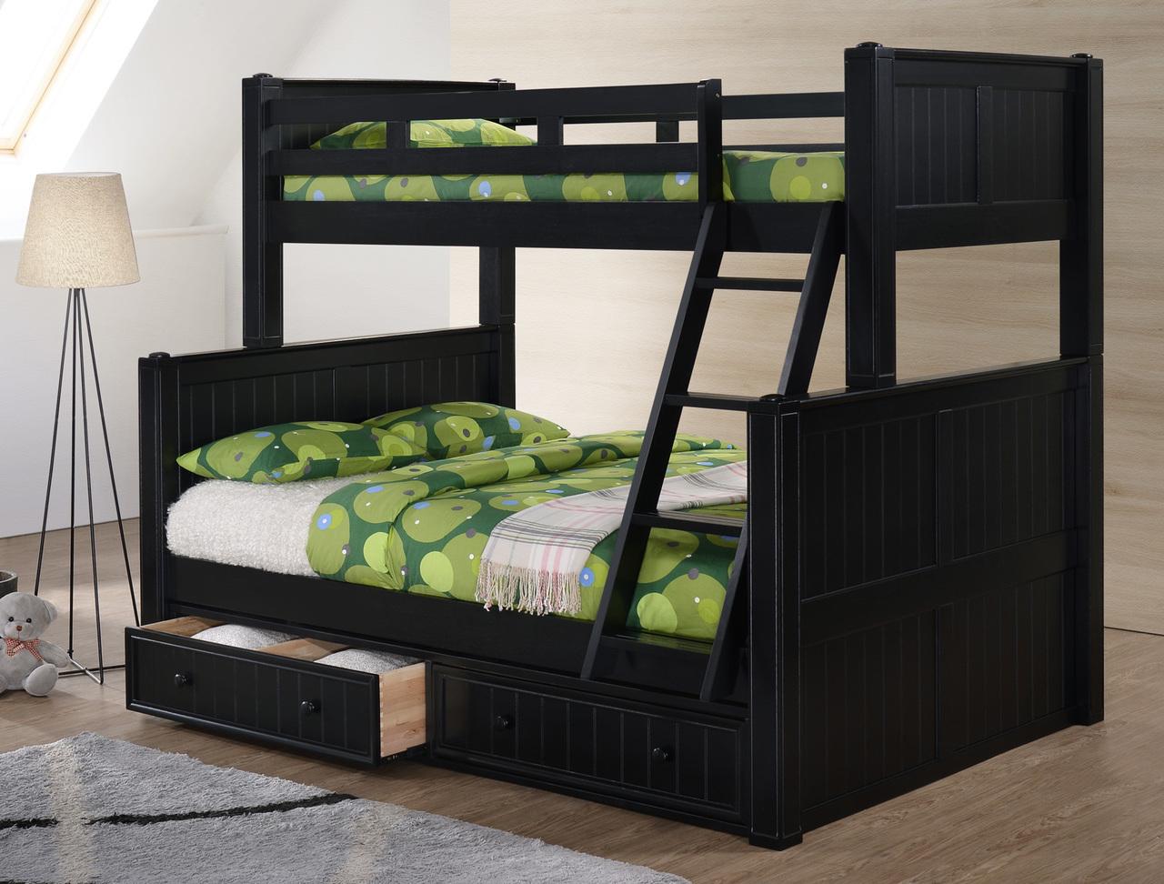 Tempat Tidur Tingkat Warna Hitam