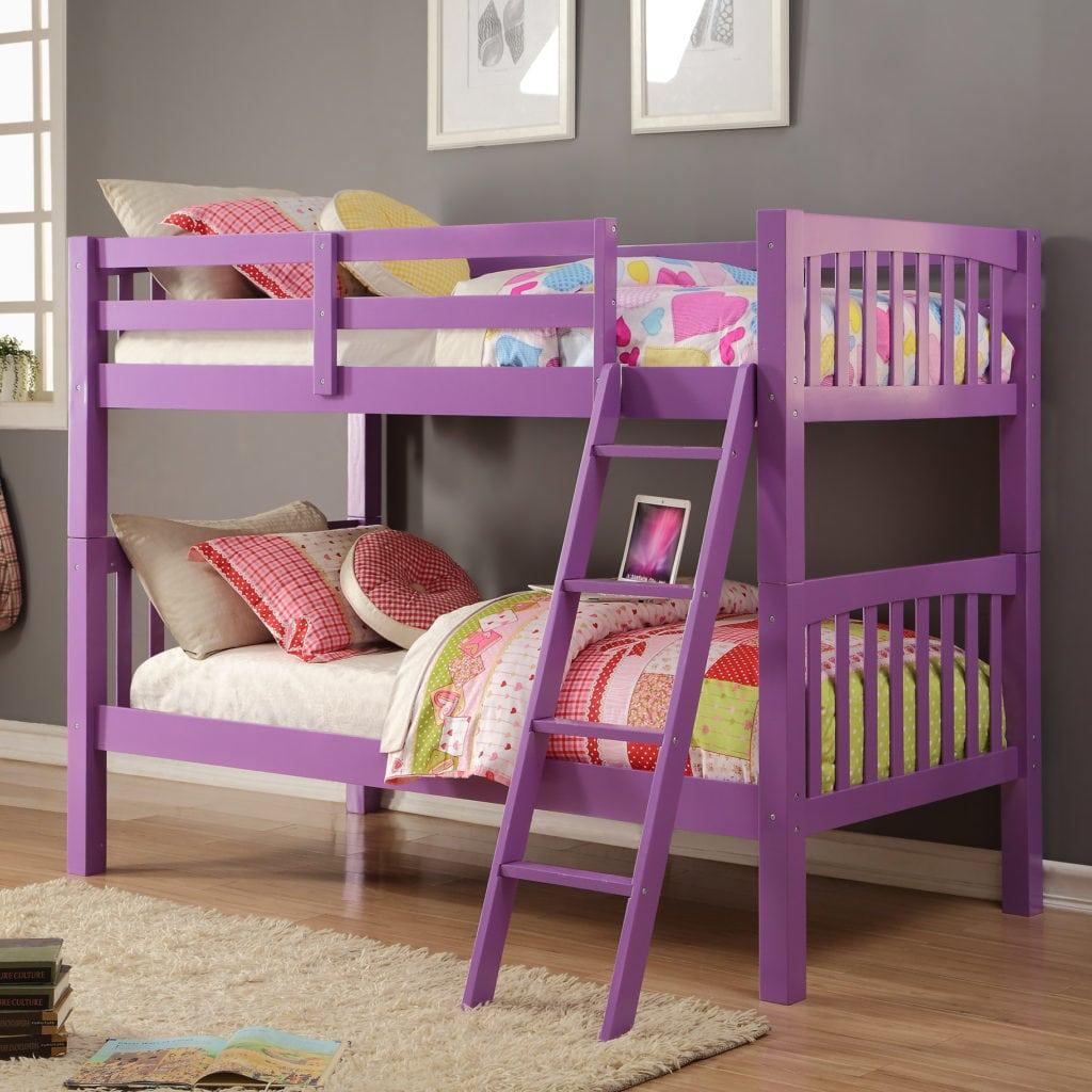 Bed Bertingkat Anak Warna Ungu