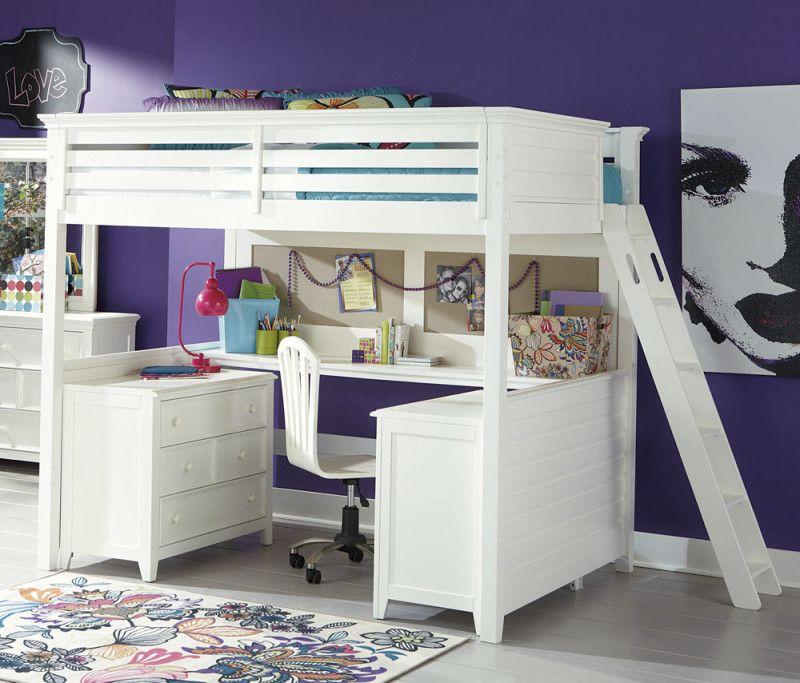 Bed Bertingkat Kayu Dengan Meja Belajar