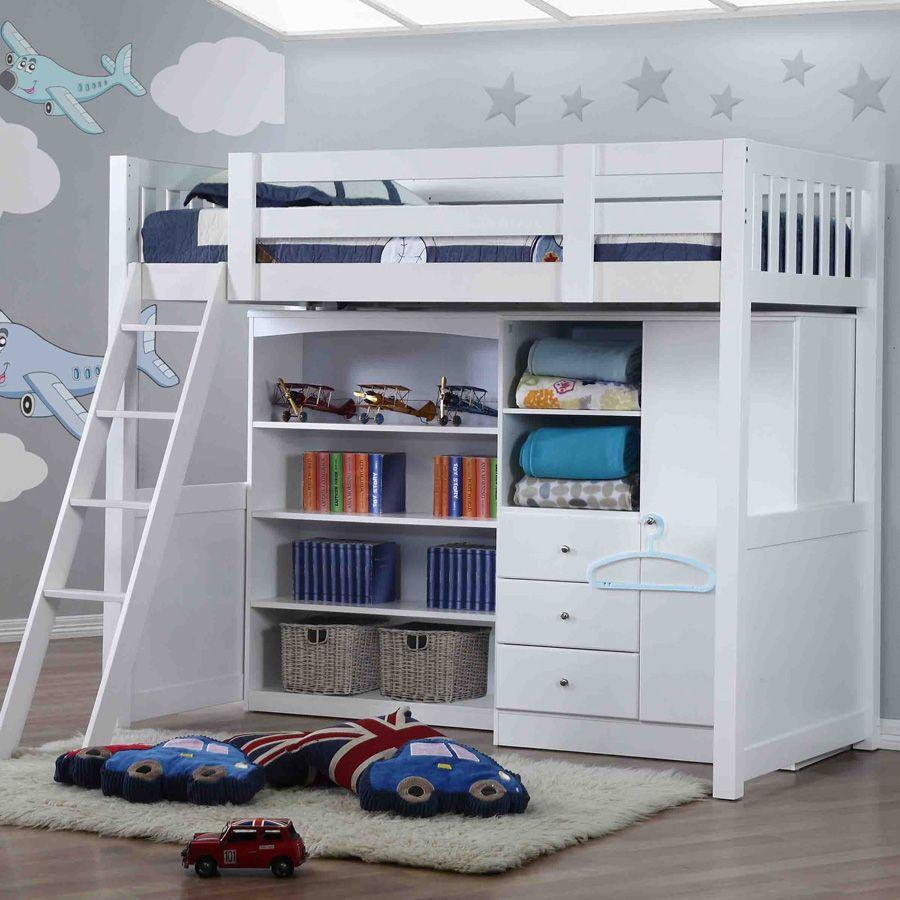 Bed Bertingkat Kayu Dengan Space Luas