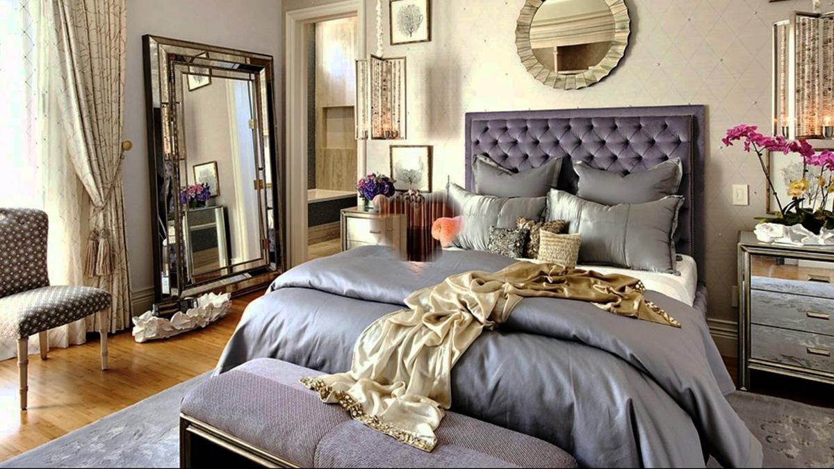 Desain Kamar dengan Aneka Cermin dan Hiasan