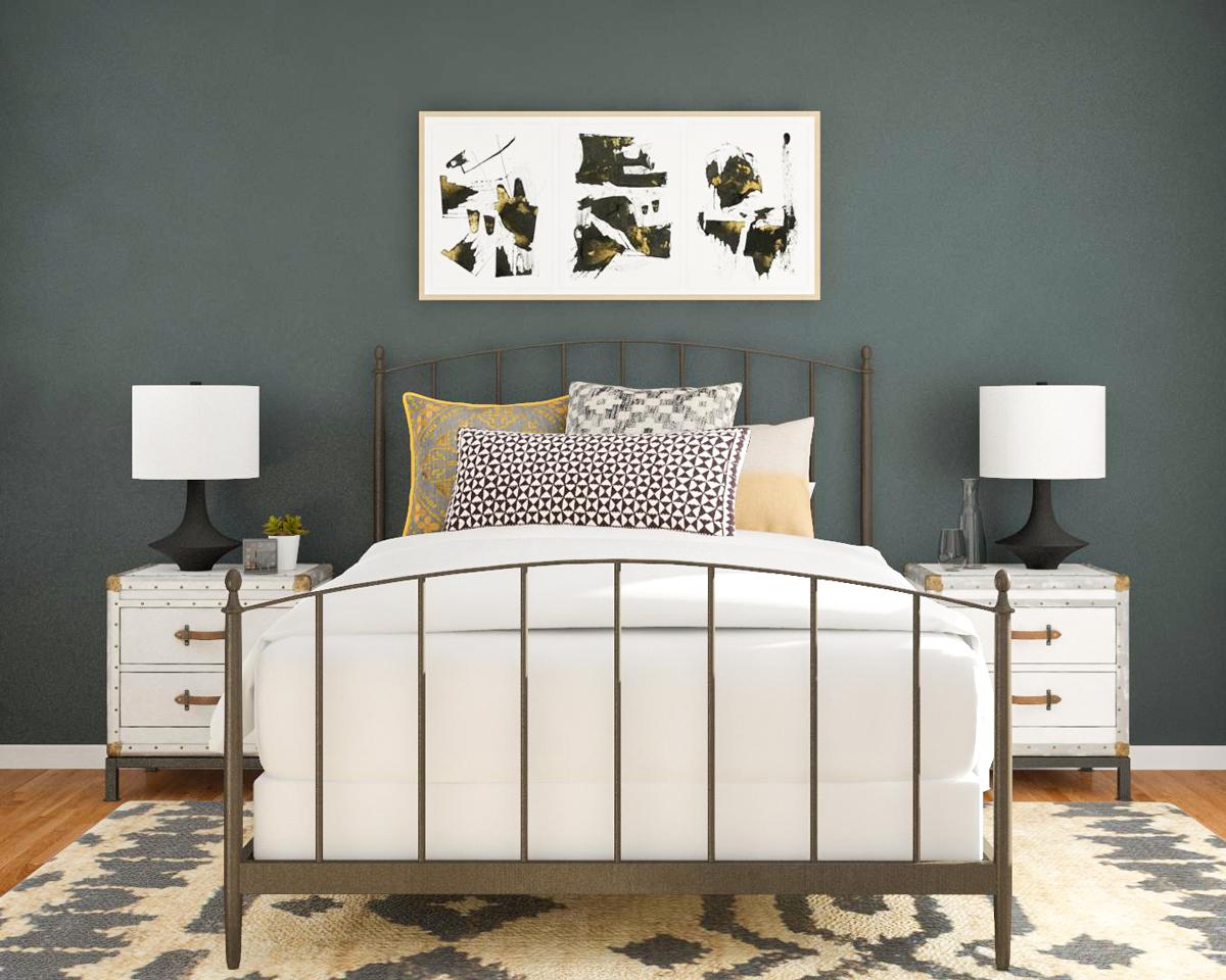Gaya Kamar Tidur Klasik dengan Lukisan Unik