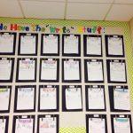 Hiasan Dinding Kelas dengan Kumpulan Klip Berjajar