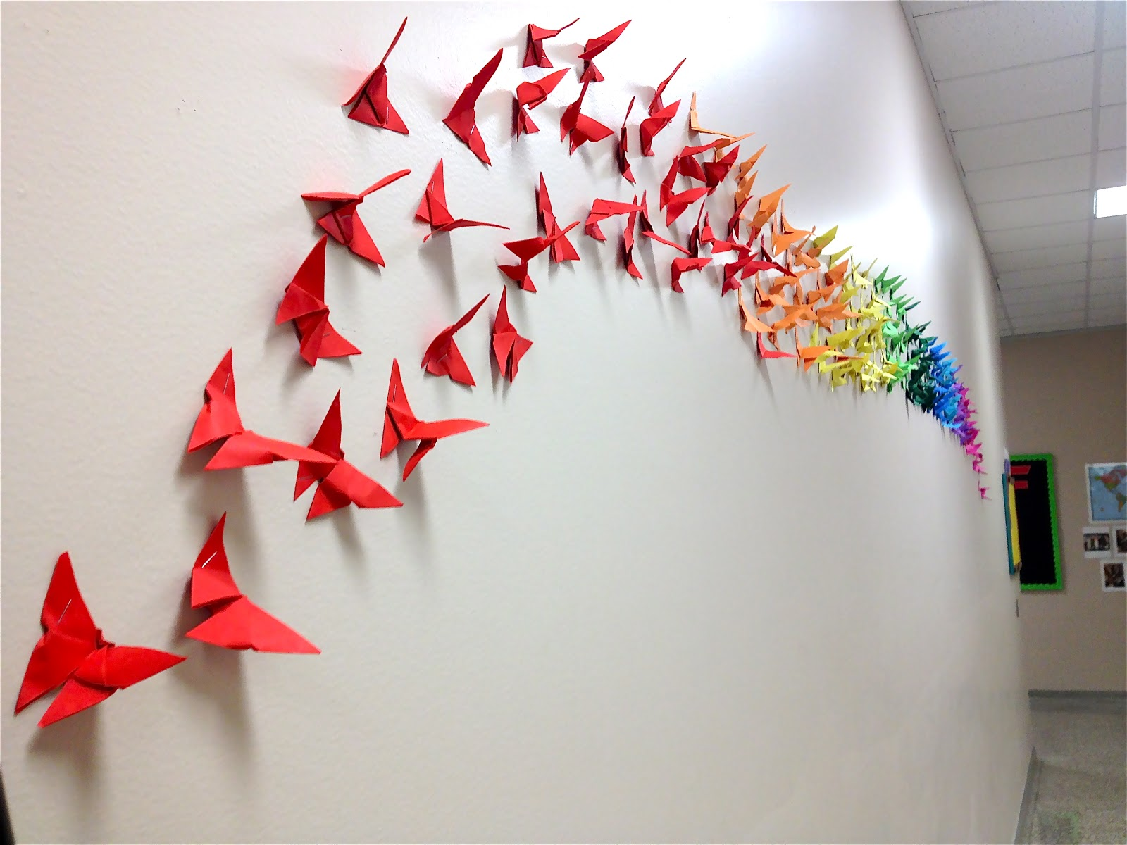 30 Hiasan Dinding Kelas Dari Kertas Origami Sd Tk