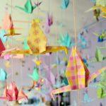 Macam bentuk hiasan kelas menggunakan kertas origami